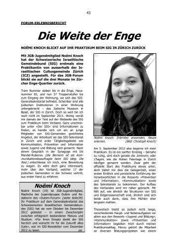 Die Weite der Enge - Schweizerischer Israelitischer Gemeindebund