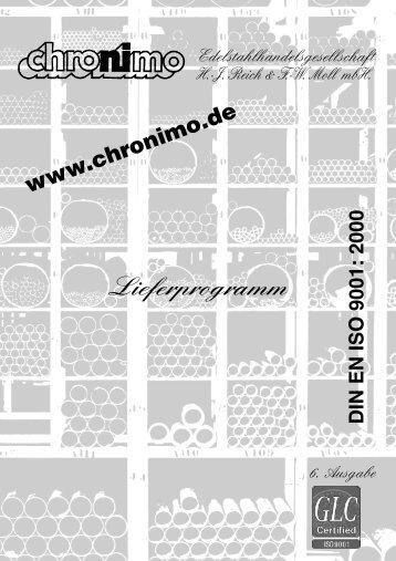 Rohre - Chronimo Edelstahlhandelsgesellschaft mbH
