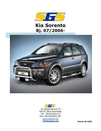 Kia Sorento Bj. 07/2006 - SGS