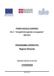 POR FSE 2007-2013 - Regione Piemonte