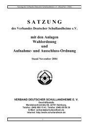 S A T Z U N G - Verband Deutscher Schullandheime eV