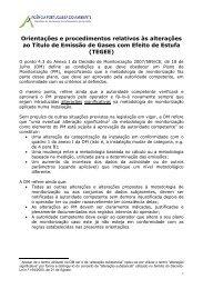 Orientações e procedimentos relativos às alterações ao Título de ...