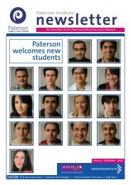 Paterson welcomes new students - The Paterson Institute for Cancer ...