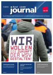 Bund + Länder Journal 01/2013 - Ver.di