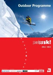 Outdoor programme 2012/13 - Swiss-Ski