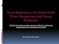 Social Marketing on Ecological Solid Waste Management ... - SEAsite