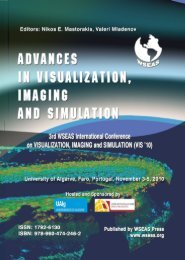 ADVANCES in VISUALIZATION, IMAGING and ... - Wseas.us