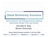 Global biodiversity scenarios - Aspen Global Change Institute