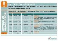 DAL 1 APRILE AL 9 GIUGNO 2012 LINEA CAGLIARI ... - Trenitalia