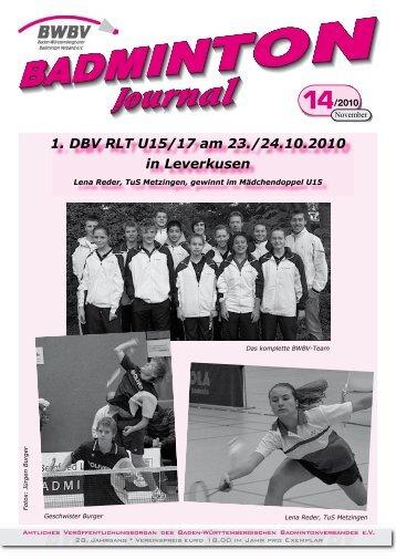14/2010 - Baden - Württembergischer  Badminton - Verband