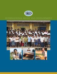 2004 - International Relief & Development
