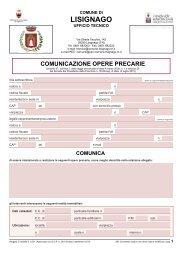 08. Comunicazione opere precarie - Comune di Lisignago