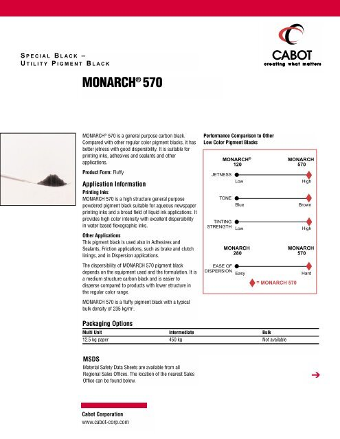 MONARCH® 570 - Cabot Corporation