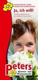 Hochzeitssträuße, Gestecke und Tischdekorationen - Blumen Peters ...