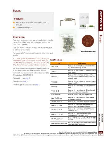dma data sheet opto 22