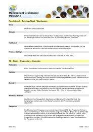 Marktbericht März 2013 - CHEFS CULINAR
