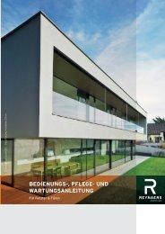 bedienungs-, pflege- und wartungsanleitung - Reynaers Aluminium