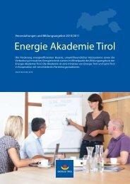 Energie Akademie Tirol - Komfortlüftung