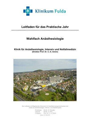 Leitfaden für das Wahltertial - Klinikum Fulda