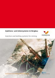 Injektions- und Ankersysteme im Bergbau Injection and bolting ...