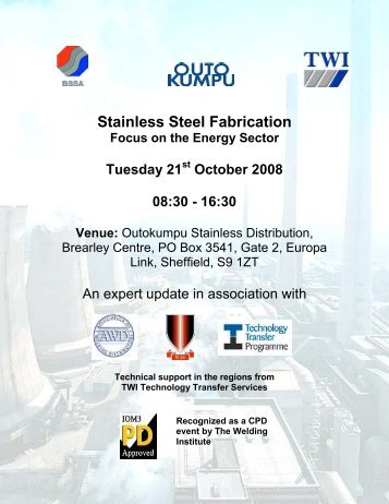 Stainless Steel Fabrication - British Stainless Steel Association