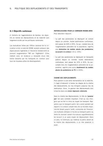 Politique des déplacements et des transports - Etat de Genève