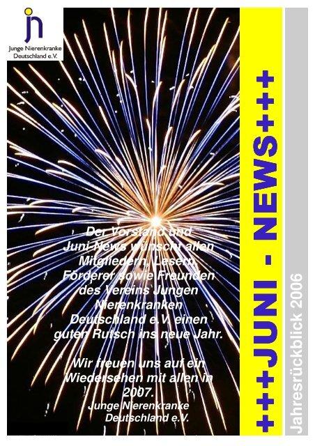 Juni News Jahresrückblick - Junge Nierenkranke Deutschland e.V.