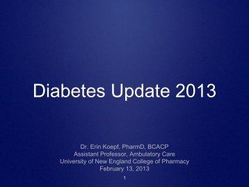 Diabetes Update 2013 - University of New England