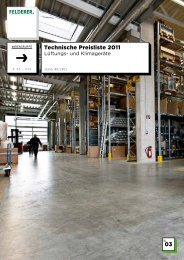 03 Technische Preisliste 2011 - Felderer