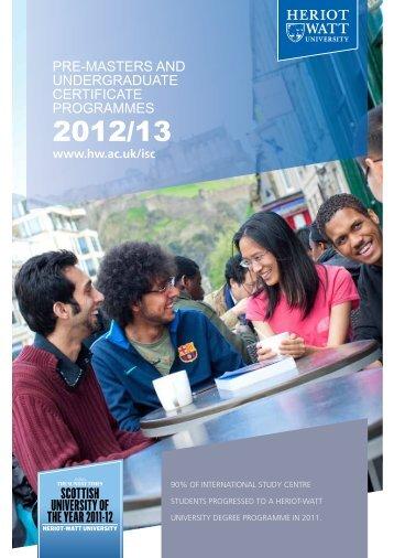 Heriot-Watt Brochure 2012-2013 - Study Group