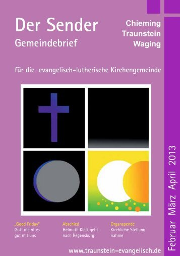 Der Sender - Evang. - Luth. Kirchengemeinde Chieming - Traunstein