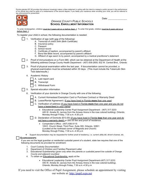 sports physical form ocps  Stu den t Residency Questionnaire - Orange County Public Schools