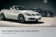 SLK 2LOOK EDITION:Tarif - Mercedes-Benz France