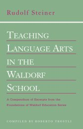Teaching Language arTs in The WaLdorf schooL