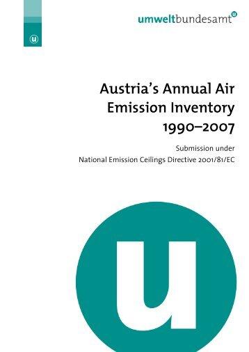 Austria's Annual Air Emission Inventory 1990–2007