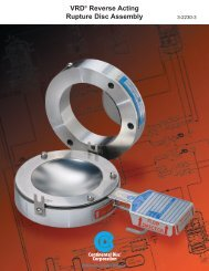 VRD Assembly - Continental Disc Corporation