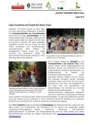 Newsletter August - Wasser, Klimawandel & Hochwasser