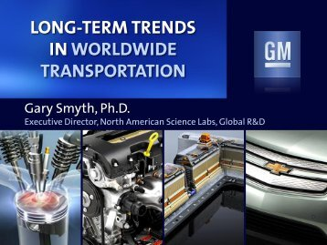 long-term trends in worldwide transportation - Engine Research ...
