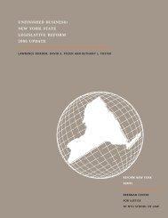 unfinished business: new york state legislative ... - PolicyArchive