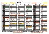 Jahreskalender 2013 - Stadtjournal Brüggen