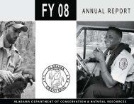 2007-2008 Annual Report - Alabama Department of Conservation