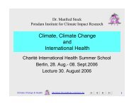 climate change - Potsdam Institute for Climate Impact Research