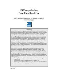 Diffuse pollution from Rural Land Use - RSPB