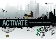 Activate - Youth Activity Programme for Autumn Half Term - London ...