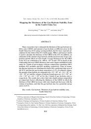 Mapping the Thickness of the Gas Hydrate Stability Zone in the ...