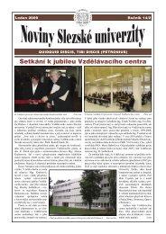 Leden - Slezská univerzita v Opavě