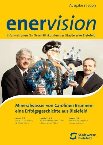 Mineralwasser von Carolinen Brunnen - Stadtwerke Bielefeld