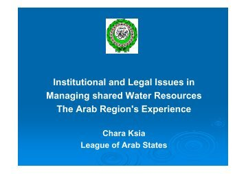 Institutional and Legal Issues in Managing shared Water ... - INBO