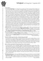 Schulpost vom 27.09.2013 - Freie Waldorfschule Jena