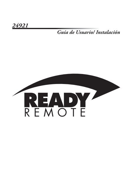 Guía de Usuario/ Instalación - Ready Remote